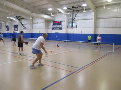 Pickleball Mixed Doubles competition at BYC's O'Donoghue Fieldhouse in Concord