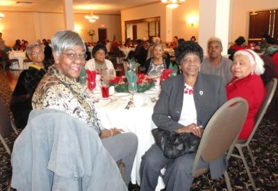 Foster Grandparents enjoy the luncheon.