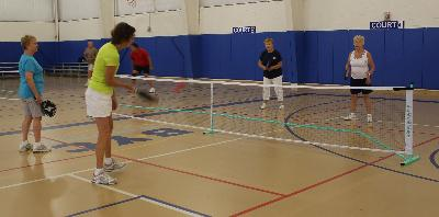 Women's Pickleball action