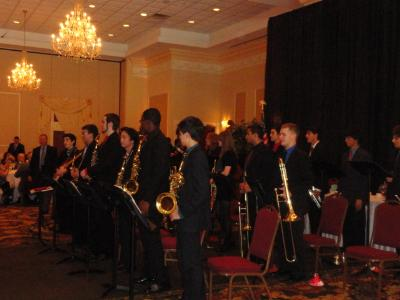 The Penncrest High School Senior Jazz Band performs at the 2013 Delaware County Centenarian Luncheon.