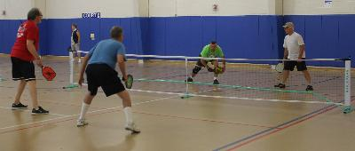 Men's Pickleball action