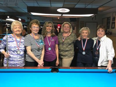 Women's Doubles Billiards medalists