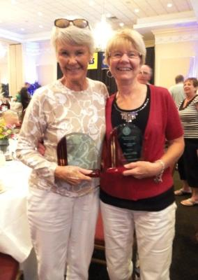 Fit for Life award winners Elizabeth Taylor and Jayne Milke.