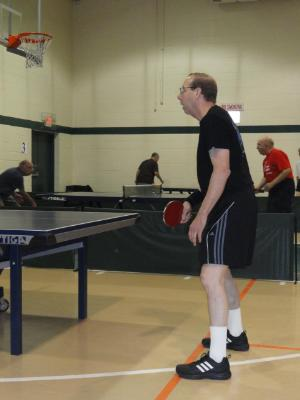 Andy Lewis, of Elkins Park, competes in Men's Singles Table Tennis.