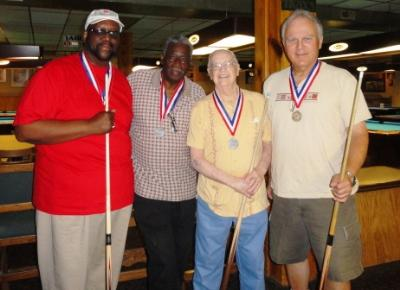 Billiards Men's Doubles medalists: