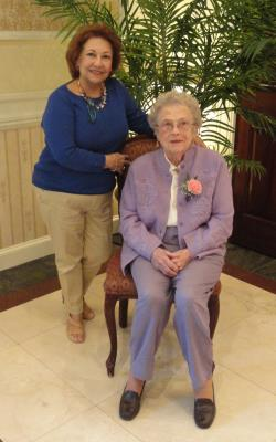 seated: Marjorie McCausland, age 99