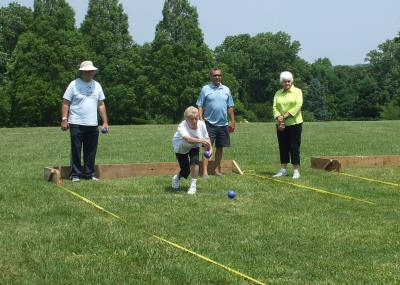 Bocce Exhibition at Rose Tree Park