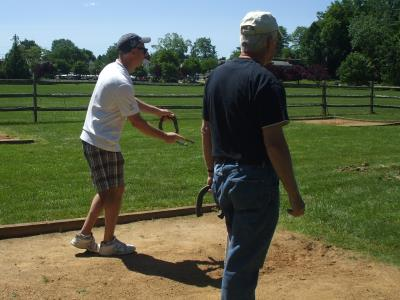 Horseshoes at Veteran's Park in Broomall