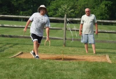 Horseshoes at Veteran's Park, Broomall