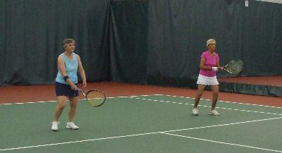 On the court action in Tennis
