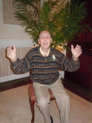 seated: Herman Giersch, of Granite Farms in Media, age 101