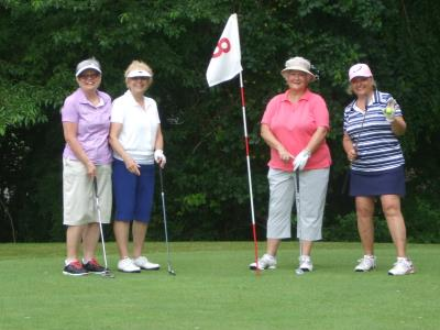 Ladies on the 8th hole