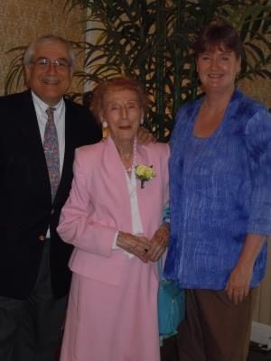 center: Margaret Bresnie, of Chestnut Ridge in Chester, age 101