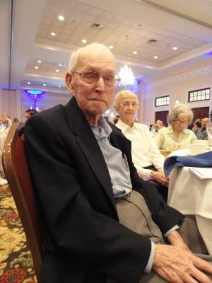 Richard Bayley, 96, oldest male Senior Games participant.