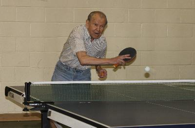 Serving up some friendly competition in Table Tennis at Watkins Senior Center, Upper Darby