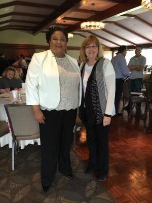 Sharisse Stanford (left), COSA's Housing Director and Joanna King (right), Coordinator for the Delaware County Link to Aging and Disability Resource Center