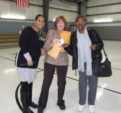 Christy Bobo, Director of Housing at the County Office of Services for the Aging (COSA); Joanna Geiger, Delaware County Link to Aging and Disability Resource Center Coordinator; and Betty Whitehead, of Drexel Hill. Betty Whitehead was one of the winners of a $50 Lowe's gift card at the Energy Fair that was held on November 14 at the Brookhaven Municipal Building. The Energy Fair was sponsored by the Delaware County Link to Aging and Disability Resource Center (ADRC) in partnership with Delaware County Council and COSA. The Energy Fair provided information for those interested in managing their heating and utility costs this winter.