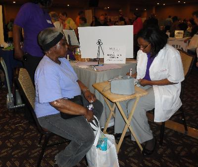 Free blood pressure screenings by Healthcare Solutions of Delaware Valley