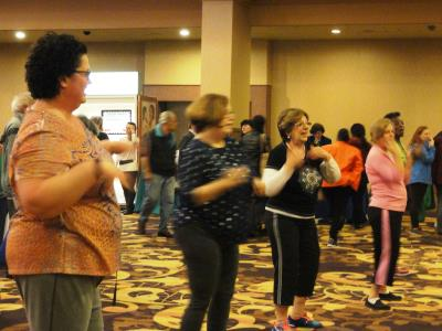 A free Zumba demonstration got everyone up and moving!