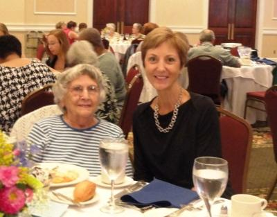 Rosa Amsel, 95, the oldest female Senior Games participant, and Delaware County Executive Director, Marianne Grace.