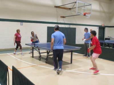 Table Tennis Mixed Doubles competition
