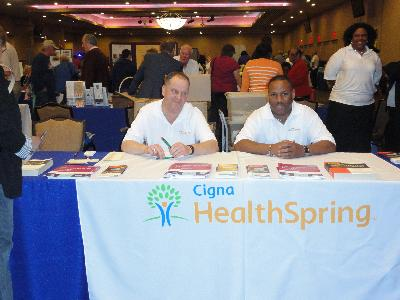 Cigna HealthSpring, proud sponsor of Older American's month. Cigna HealthSpring provided a jazz band which entertained the expo crowd.