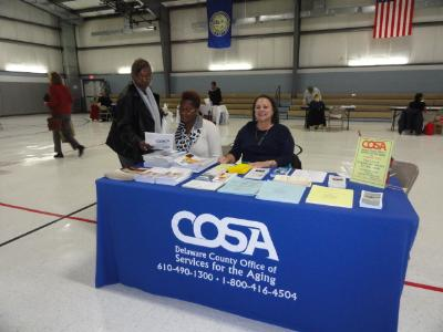 Representatives from COSA provided information on services available to Delaware County seniors.