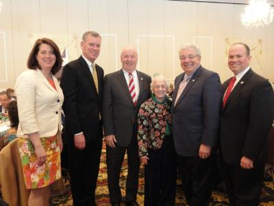 Members of Delaware County Council with Grace DiAddezio, 99.