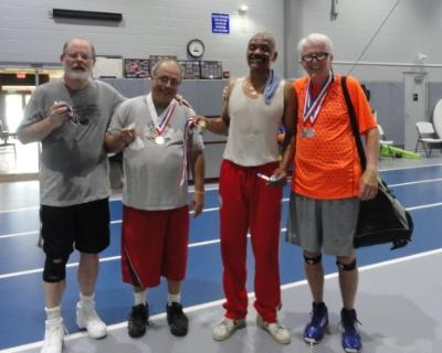 Larry Campbell, Michael Camma, Charles Williams, Gerry Dallahan-basketball medalists